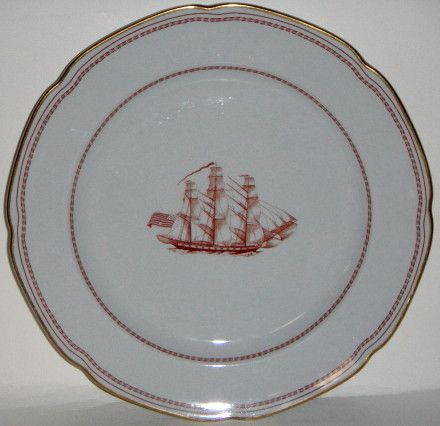 Spode Trade Winds-Red Salad Plate | Trade wind, Salad plates and ...