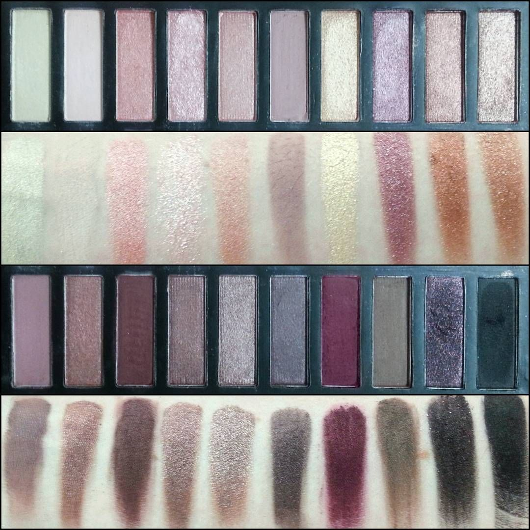 Swatches of the Coastal Scents Revealed 2 palette! Dupe for the Urban Decay Naked 3