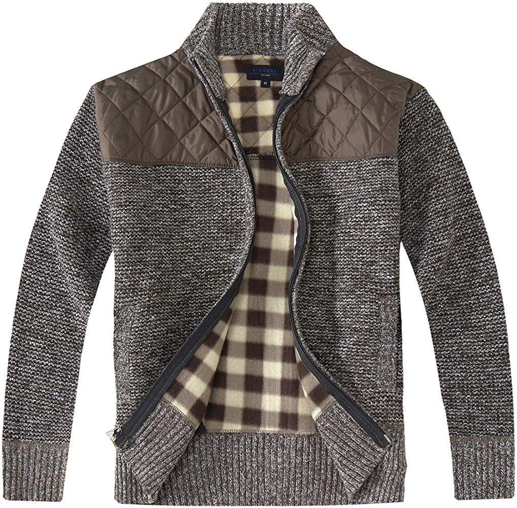 Gioberti Boys Knitted Full Zip 100/% Cotton Cardigan Sweater