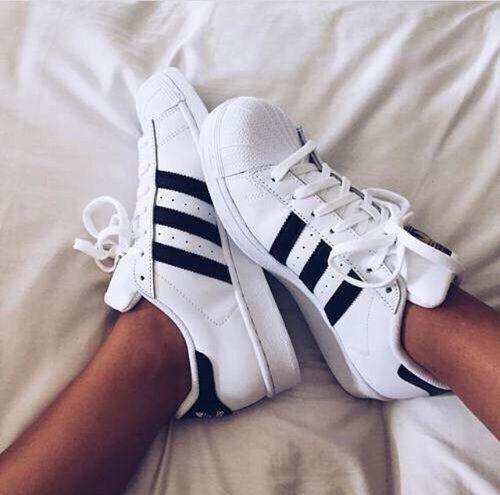 zapatos adidas blanco y negro white sneakers mujer