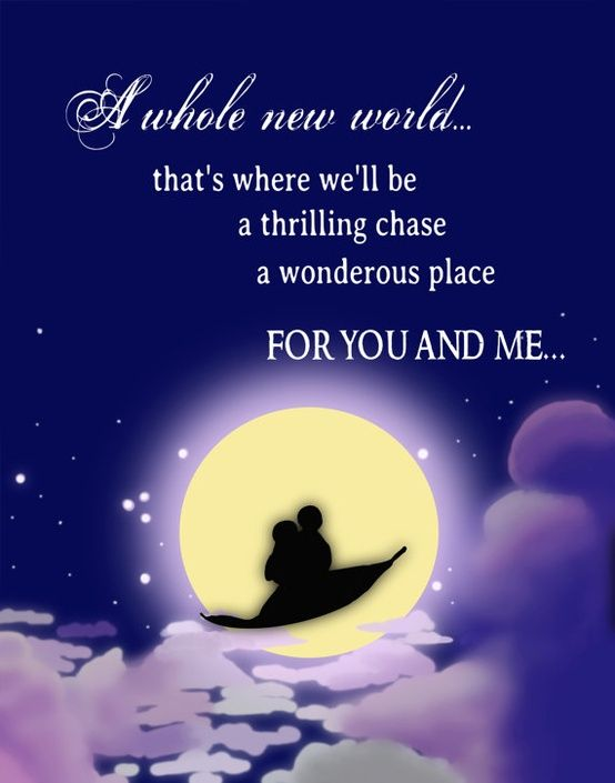 A Whole New World Quote For Our Sweetheart Table
