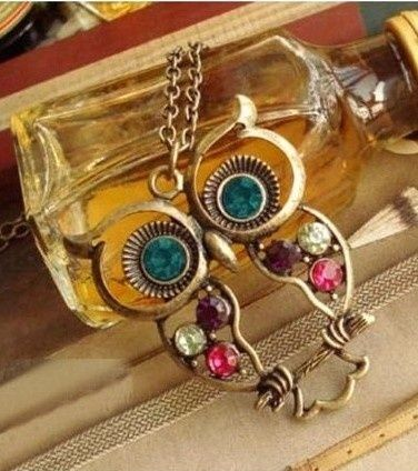 I found 'Cute Diamond-Studded Hollow Owl Pendant Necklace' on Wish, check it out!