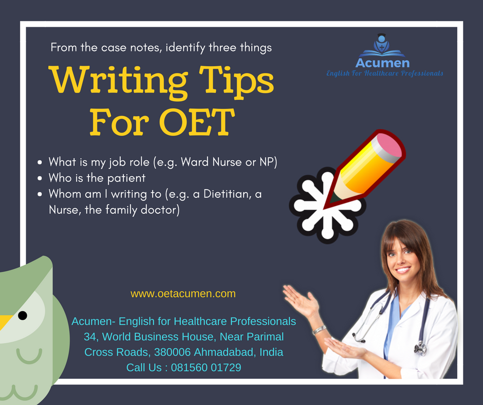 OET Writing Tips for Nurses ☺️ #OETonline #OETtips #OET