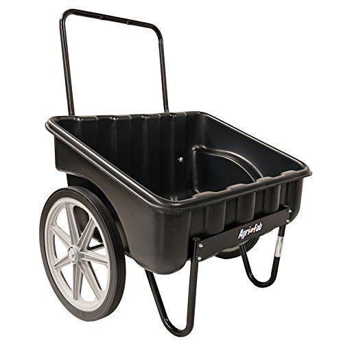 Agri Fab Inc Carry All Cart Outdoor Cart Black Bedding Wheelbarrow Garden