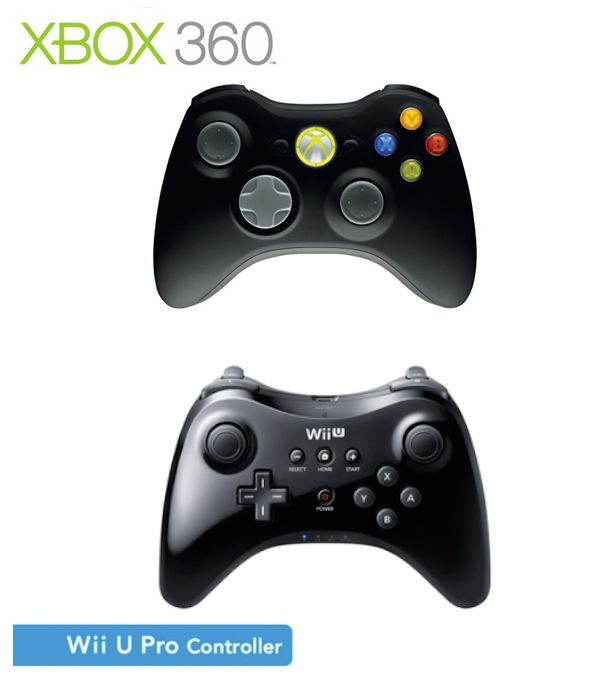 The Wii U Pro controller vs the XBox 360 controller