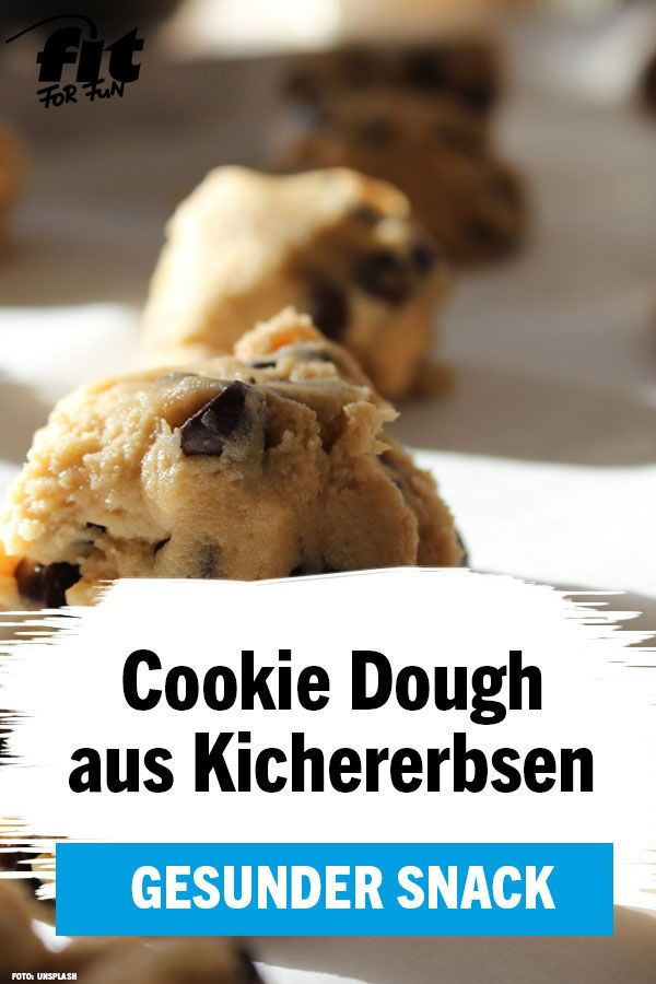 Gesund naschen: Cookie Dough aus Kichererbsen - FIT FOR FUN