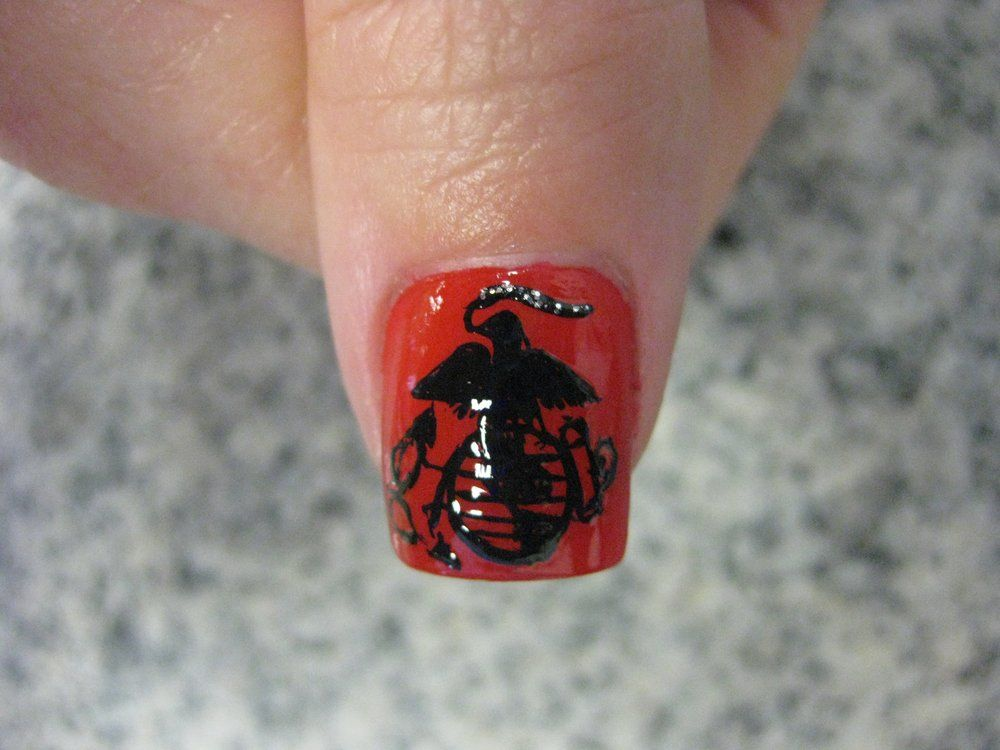 Usmc pedicure jpg ball nails pinterest usmc pedicures and us marine corp emblem hand painted yelp prinsesfo Gallery