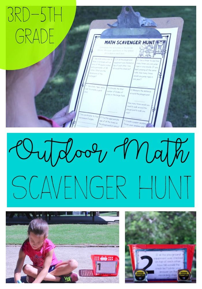 10 Ways to Teach Math Outdoors | Outdoor scavenger hunts, Learning ...