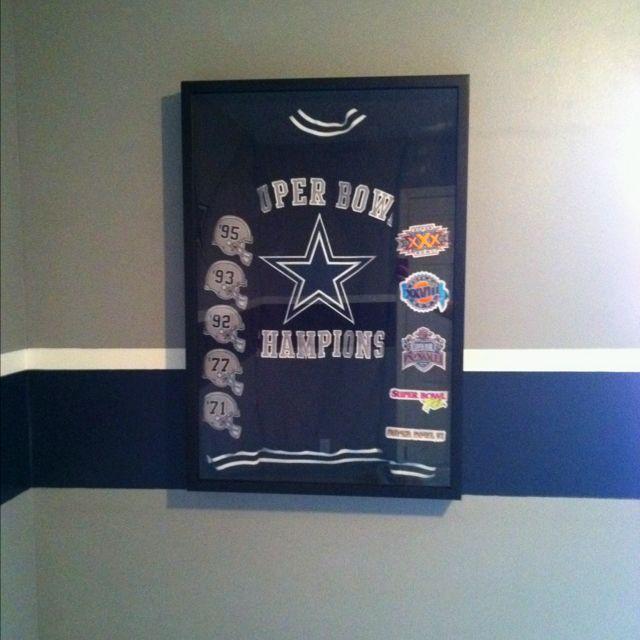 Super Bowl Champions Jacket Framed In 24x36 Shadow Box From Hobby Lobby Shadow Box Dallas Cowboys Game Cowboy Games