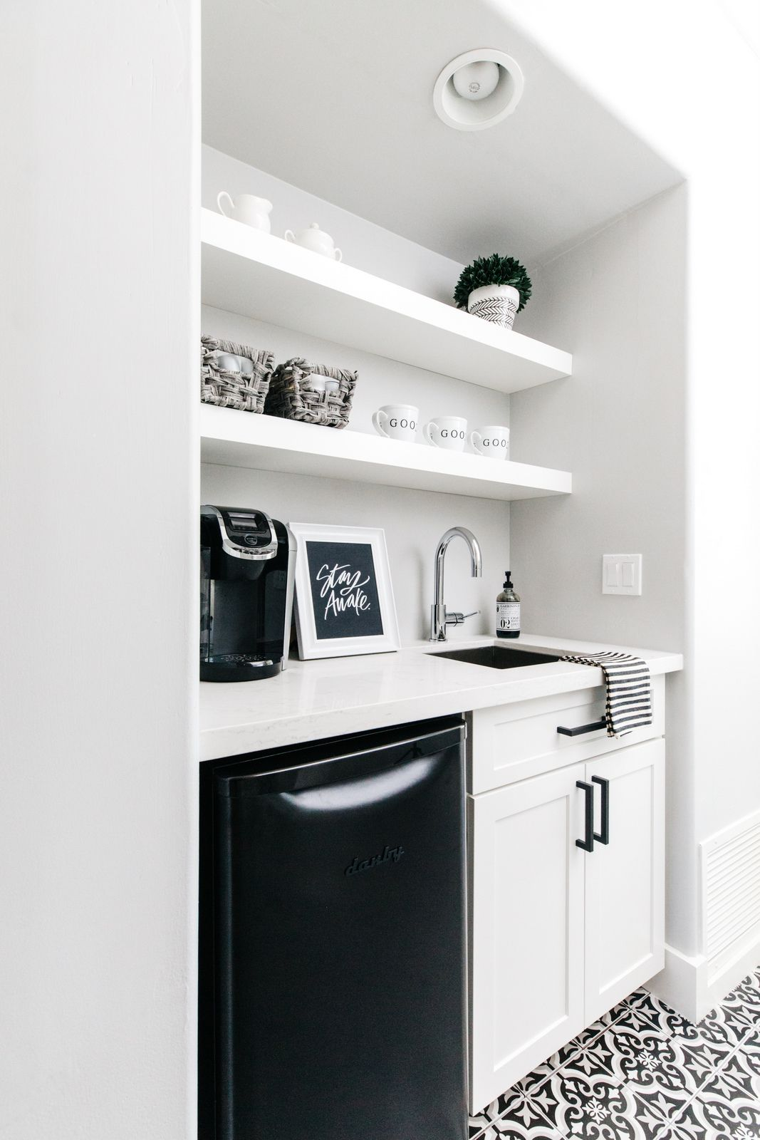 Our House Reveal: Master Bedroom Coffee Bar | Coffee Please ...