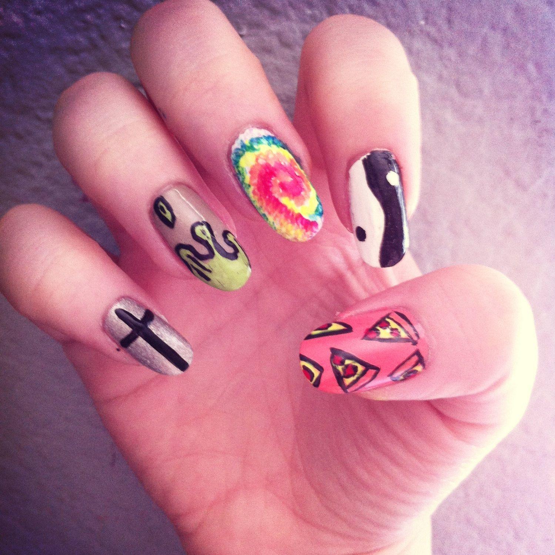 Grunge Nail Art On Pinterest: Grunge Nail Art