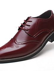 cab791fe3 Masculino-Oxfords-Conforto sapatos Bullock Sapatos formais-Salto  Grosso-Preto Marrom Vinho-Couro-Casamento Escritório & Trabalho Casual