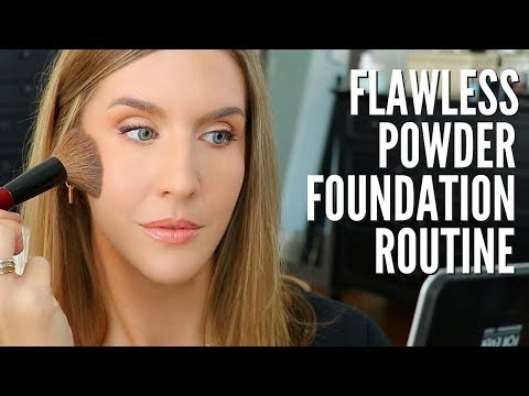 How to Apply POWDER FOUNDATION Without Looking Cakey