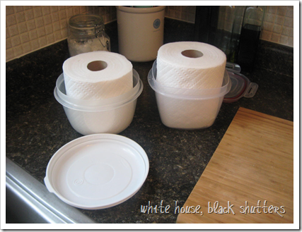 Smart idea...made from Paper Towels....Make your own wipes