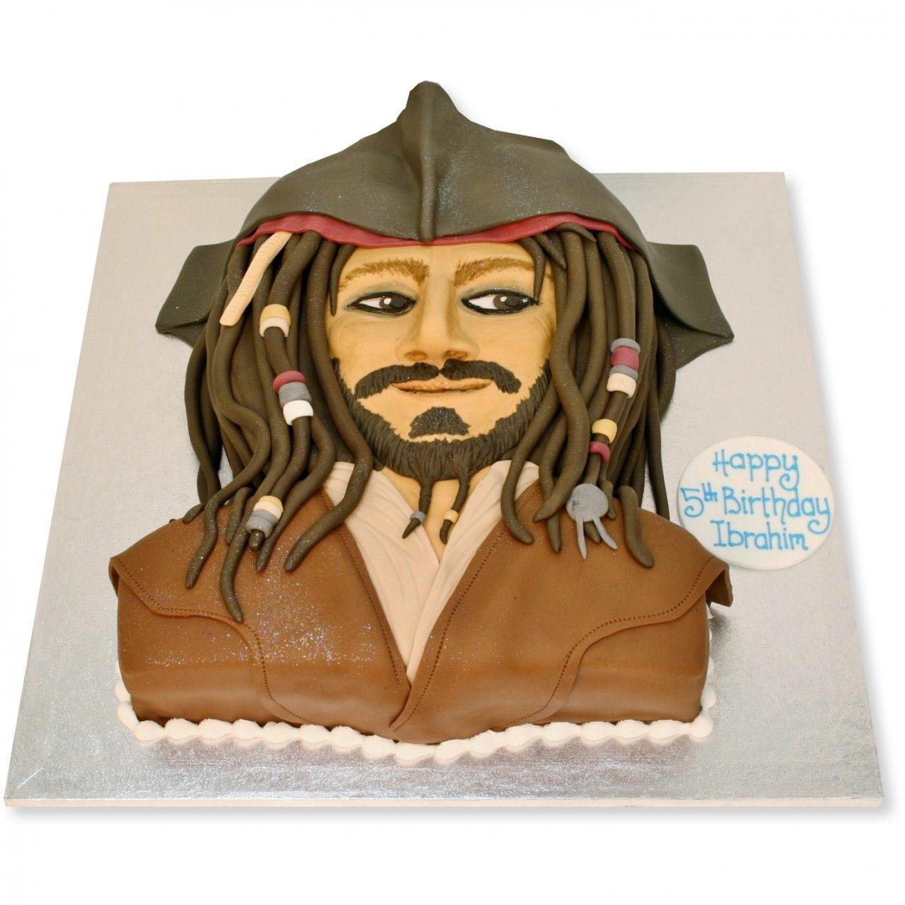 Jack Sparrow  Novelty Cakes  Birthday cake Cake makers Cake