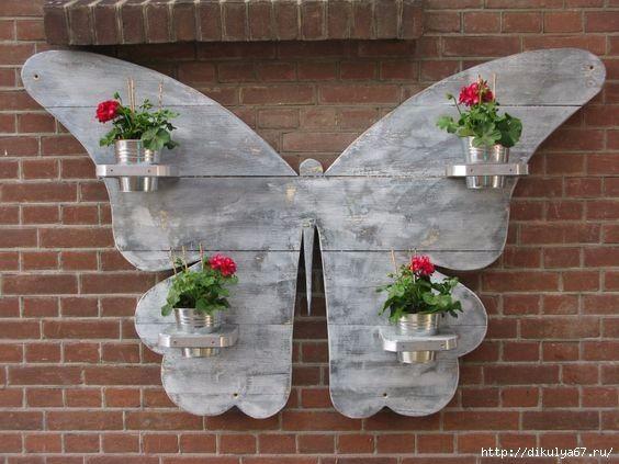 Para la pared del jardin huerto pinterest jard n for Paredes de madera para jardin