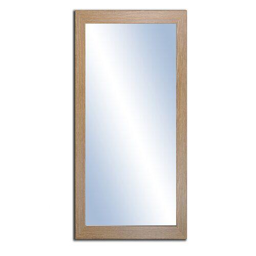 Photo of Badezimmerspiegel Crista Ebern Designs Größe: 100 cm H x 70 cm B, Ausführung: Eiche