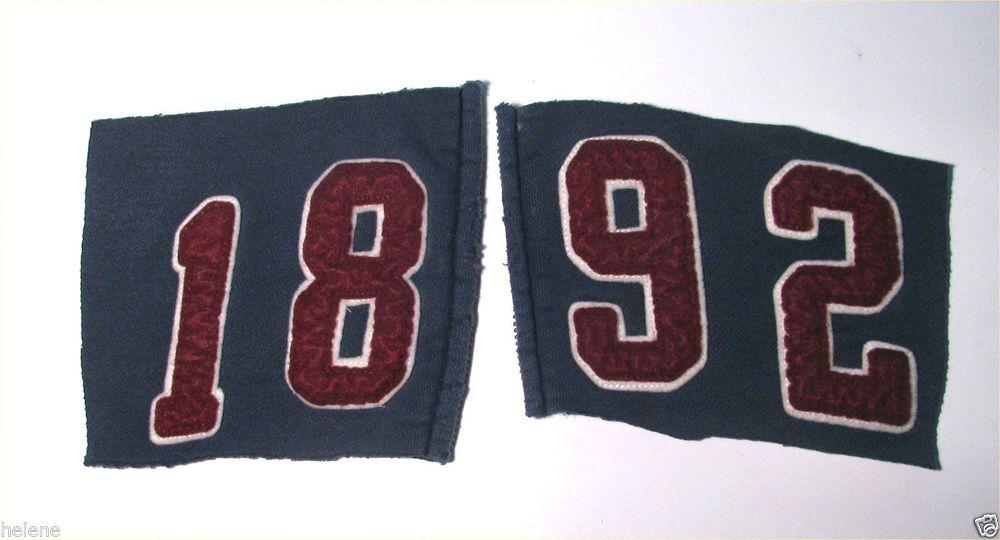"Abercrombie & Fitch""1892""Salvaged Felt Varsity NUMBERS for DIY Letterman Jacket #AF"