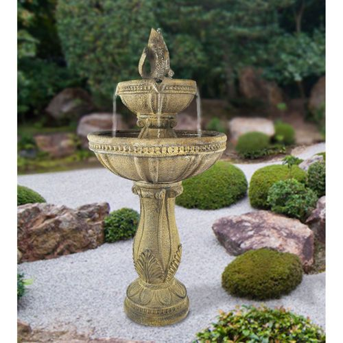 Serena™ Tuscan Three-Tier Cordless Garden Fountain