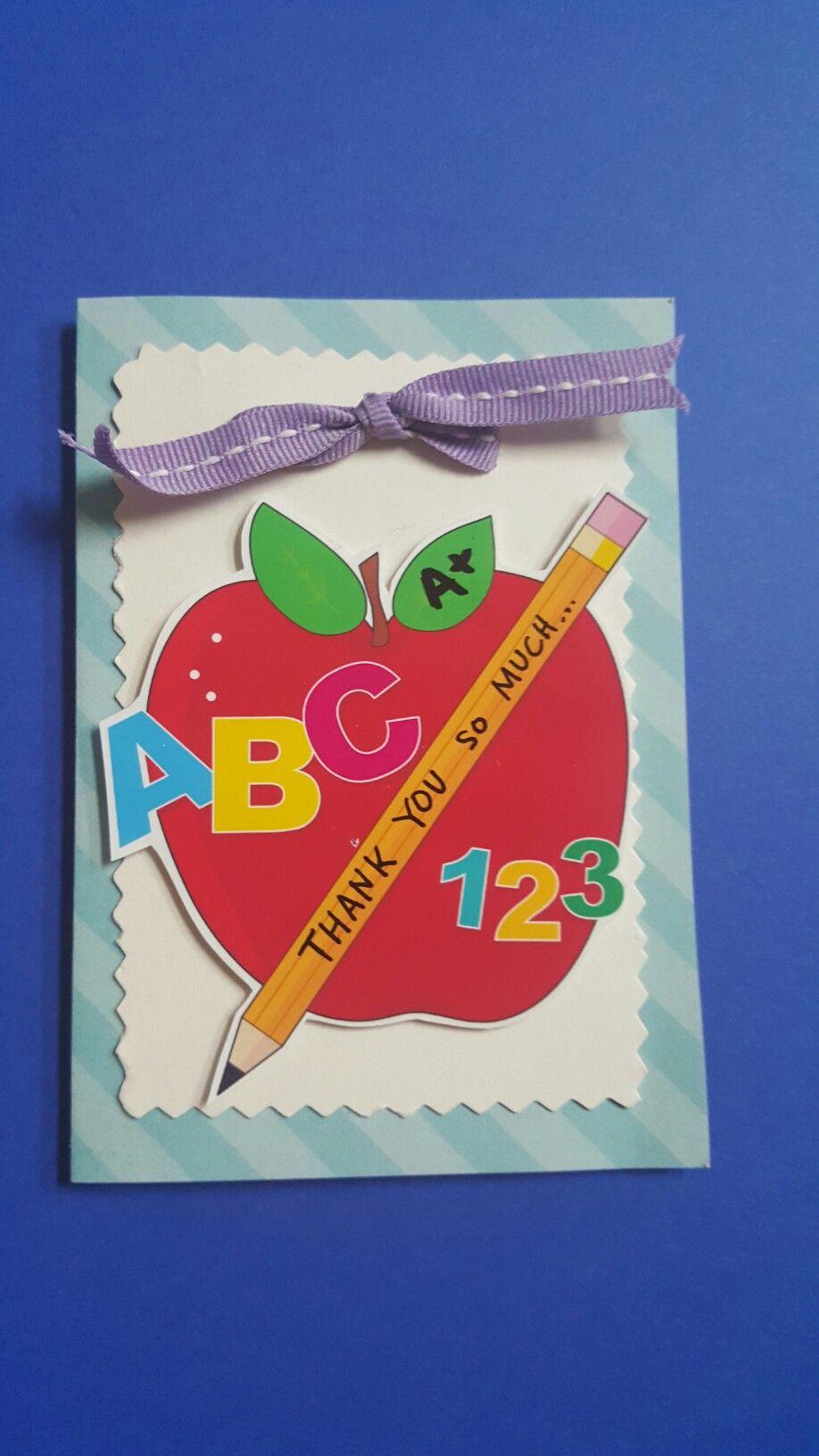 teacher thank you card ideas  teacher thank you cards