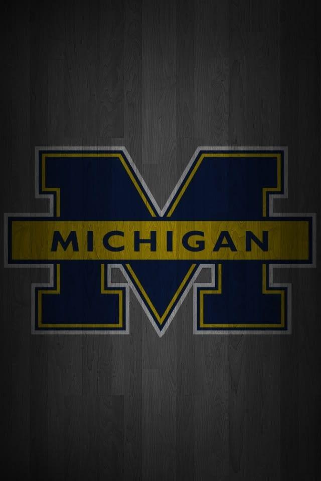 Michigan Wallpaper Iphone 6 Wallpaper University Of Michigan Logo Michigan Football Michigan Wolverines Football