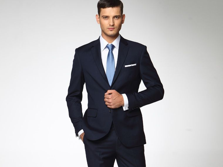 Navy-blue-Suit-Worsted-Tailor-Made-Wedding-Suits-Man-Jacket-Pants ...