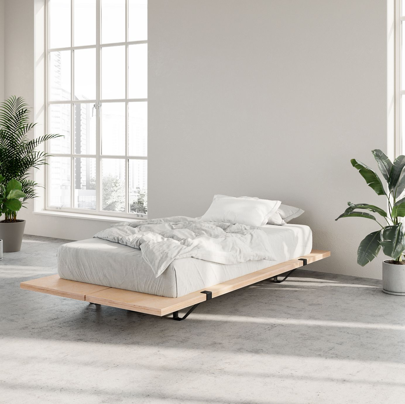 The Floyd Platform Bed, Twin, Black in 2020 Small room