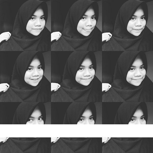 효과 #bw #blackhijab by afiyahrn1909