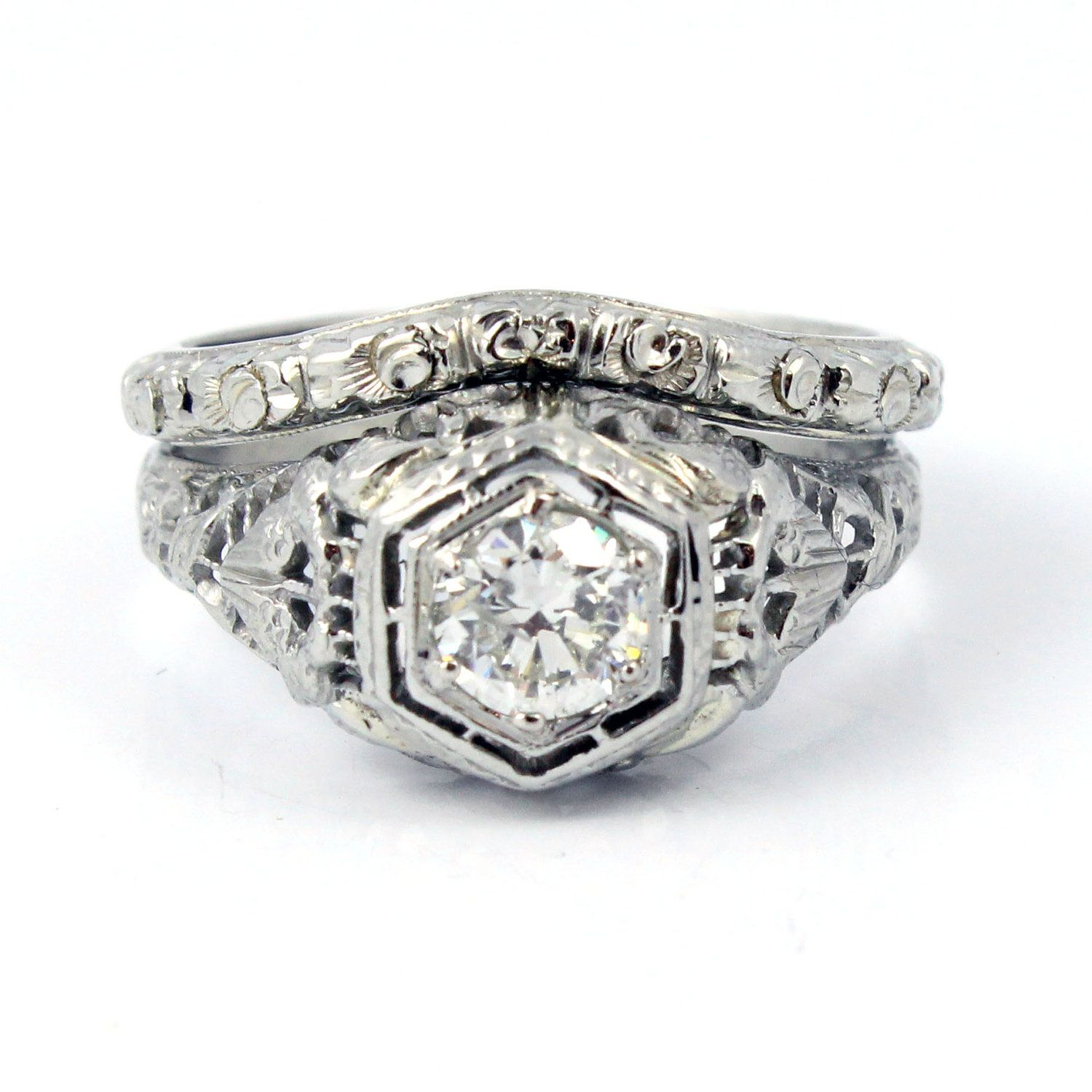 promise wedding ring antique diamond engagement rings filigree