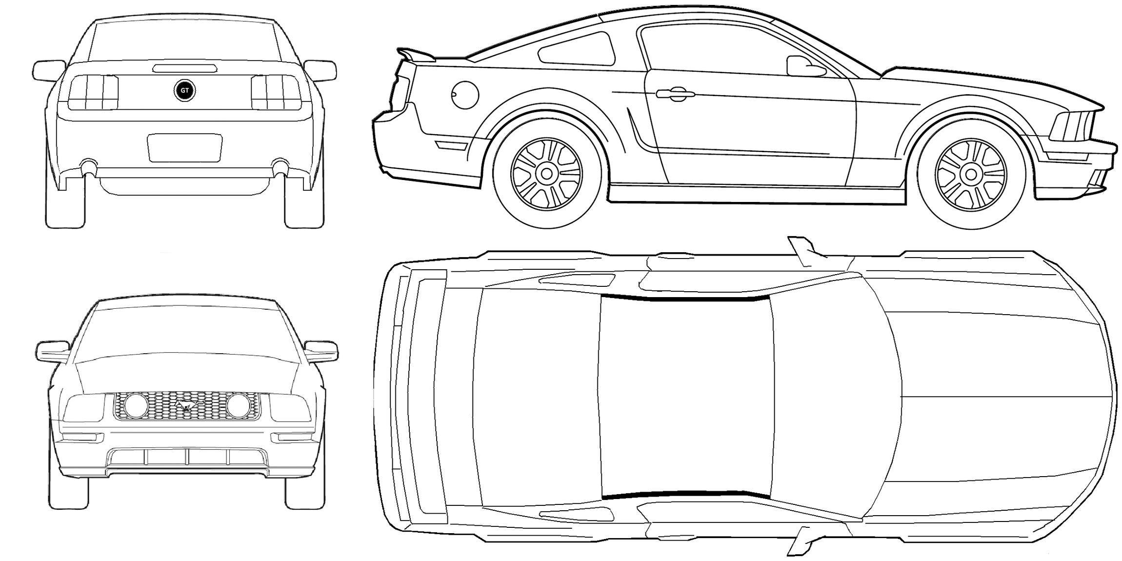Mustang Blueprints