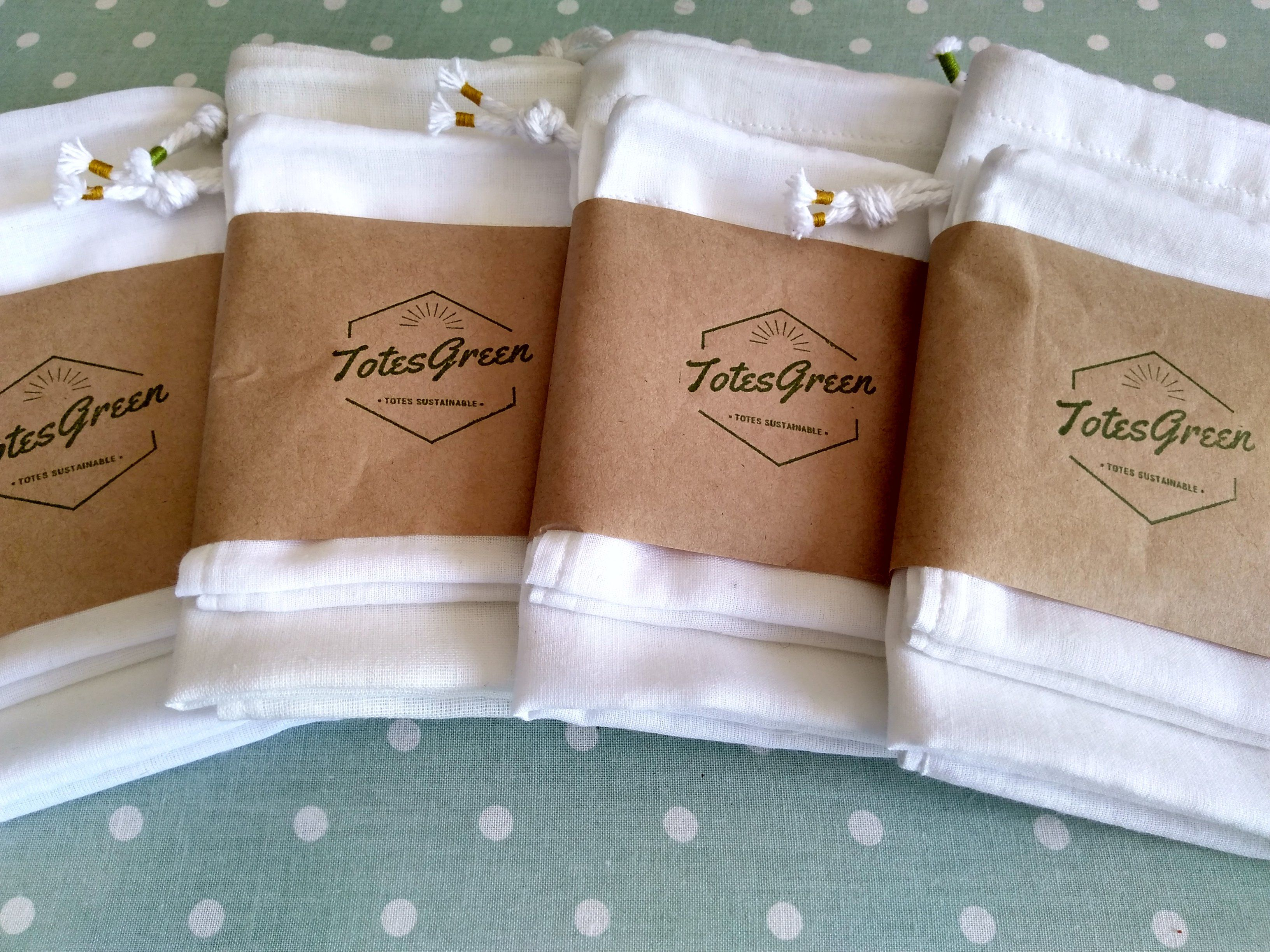 Reusable cotton produce bags, made in Australia from