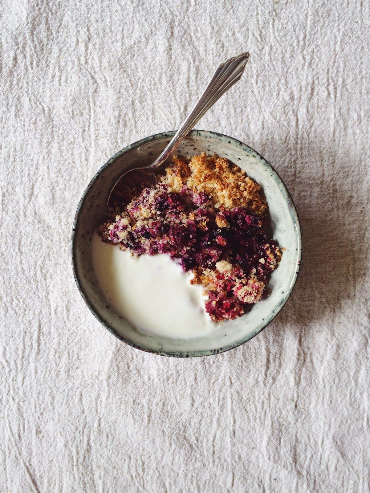 Berry + Millet Crumble by That's Food Darling