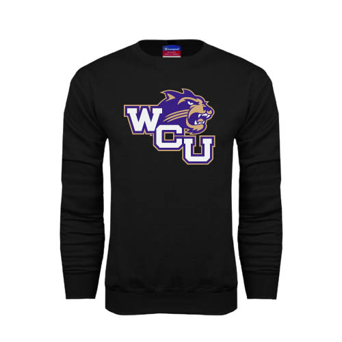 Western Carolina - Western Carolina Champion Black Fleece Crew WCU w/Head