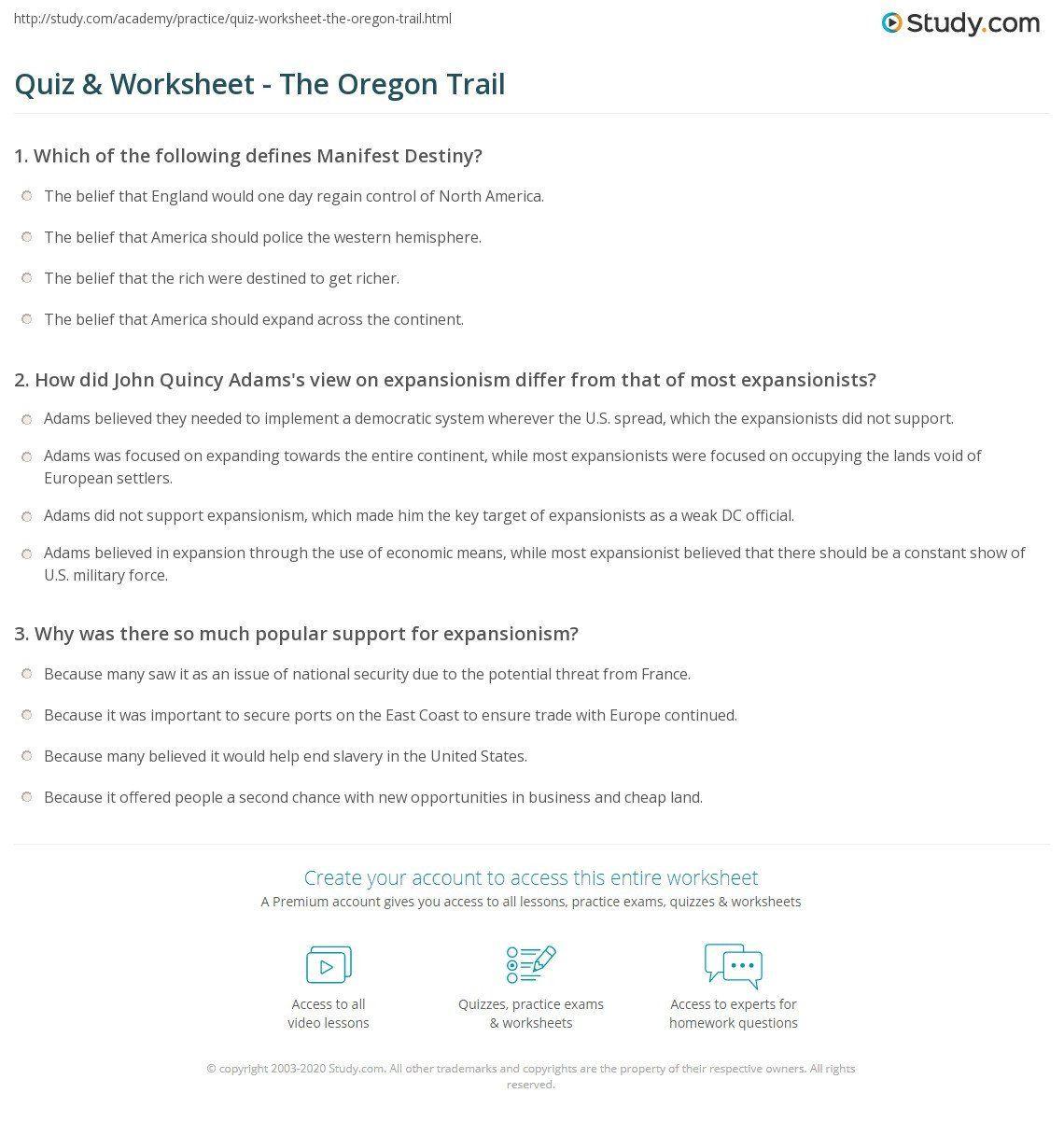 Westward Expansion Map Worksheet Trails Westward Migration