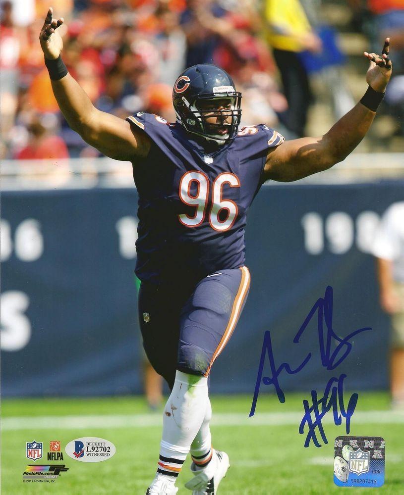 Akiem Hicks Signed Chicago Bears 8x10 Photo W Beckett Coa Chicago Bears Chicago Bears Football Bears Football