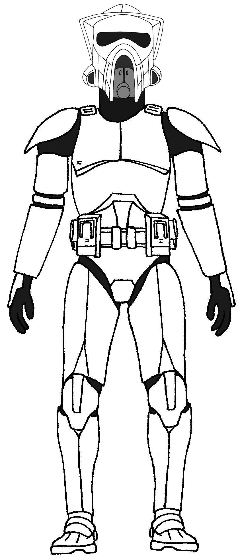 Clone Scout Trooper Phase 1 Star Wars Clone Wars Star Wars Drawings Star Wars Captain