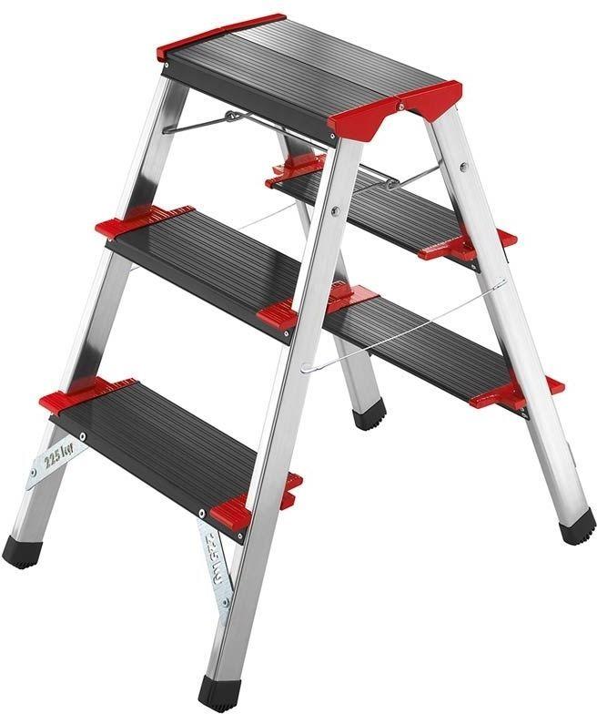 3 Tread Double Sided Step Stool Ladder Heavy Duty Folding Lightweight NON SLIP  sc 1 st  Pinterest & 3 Tread Double Sided Step Stool Ladder Heavy Duty Folding ... islam-shia.org