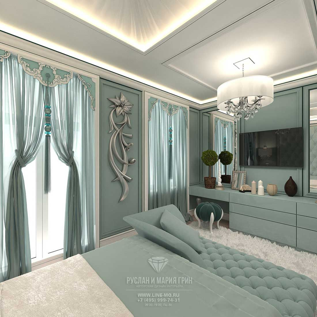 modern bedroom design idea in a townhouse - Townhouse Bedroom Design