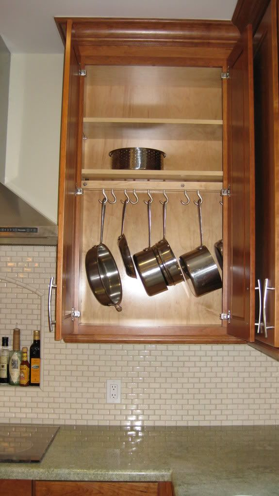 Any Suggestions On Storing Pots And Pans In Upper Cabinets Kitchens Forum Gardenweb