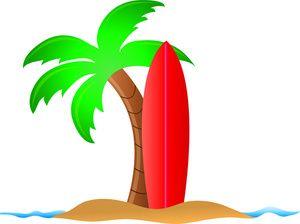 palm tree clip art beach clipart image surfboard and palm tree on rh pinterest com Palm Tree Surfboard Clip Art Cartoon Surfboard