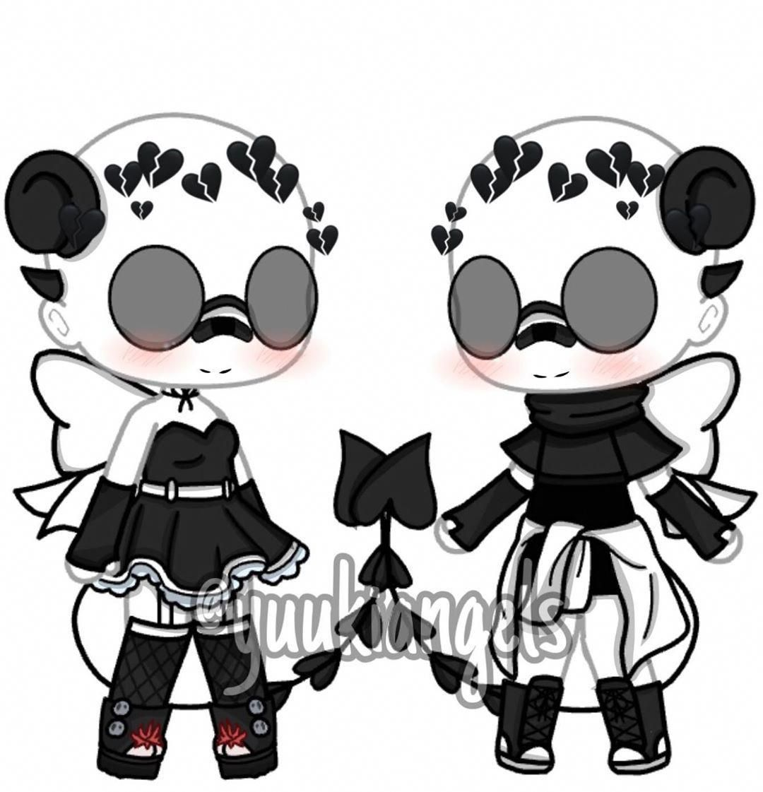 Demon Outfits Tbh Idk Lmao The Colors Is Black And White I Hope