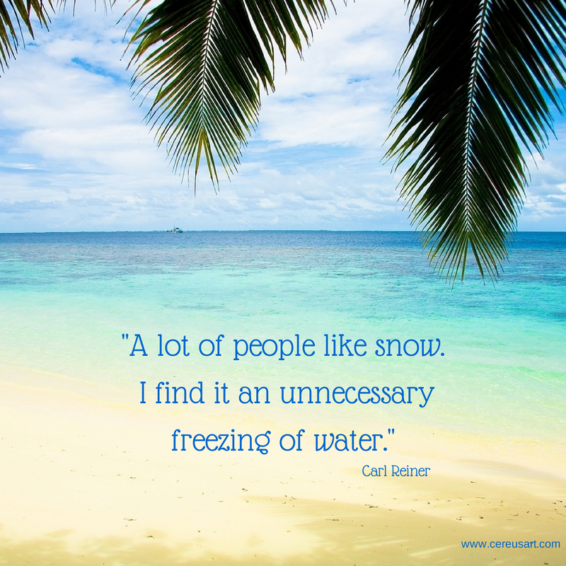 Dreaming Of Summer Quotes: Beach Saying A Lot Of People Like Snow. I Find It An