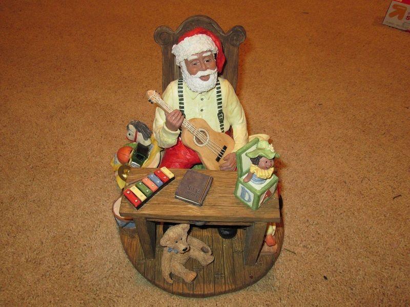 RARE--- Black African American Santa Claus  Christmas Figurine( 0027 of 1000)
