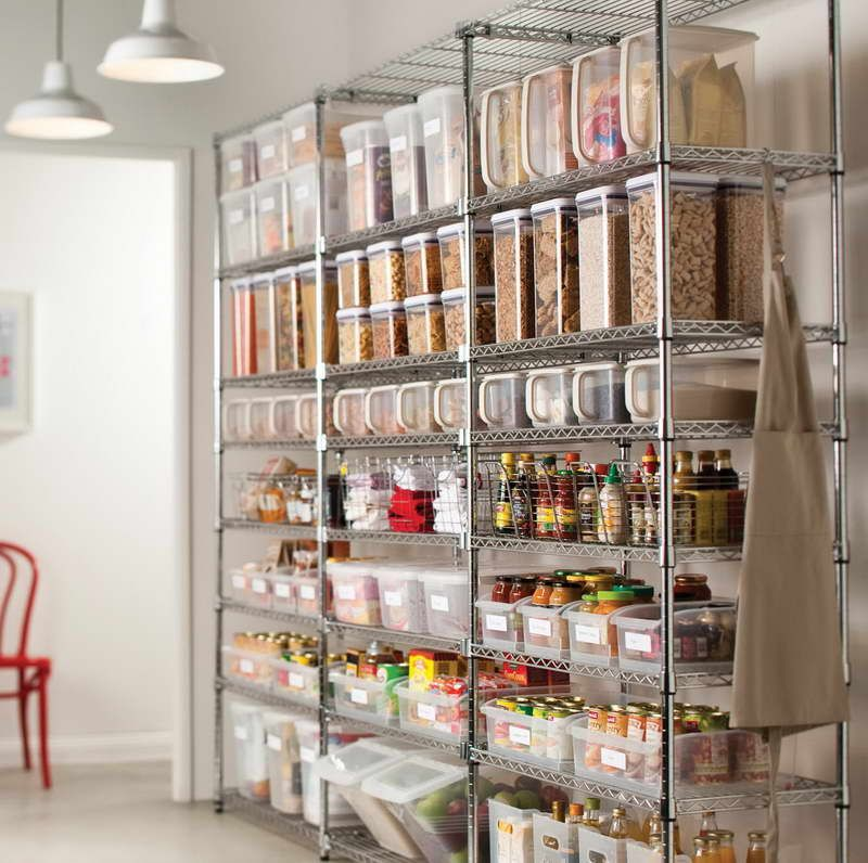 Pantry Storage With Wire Racks