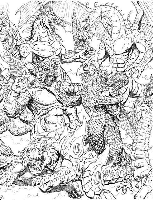 Earth Kaiju Kaiju Art Unusual Art Boy Coloring