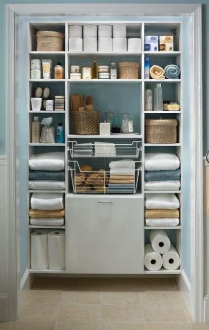 Trendy bathroom organization closet linen cupboard 65+ ideas