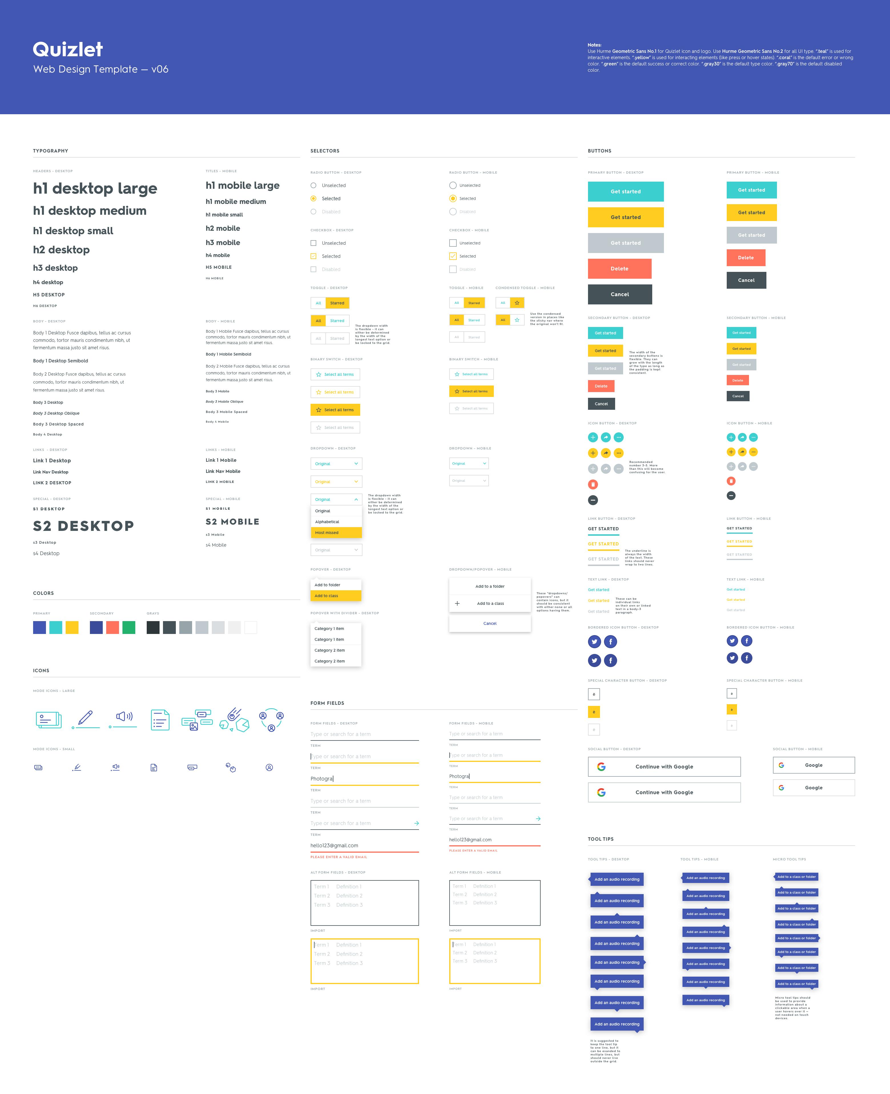 Https Dribbble Com Shots 3353770 Quizlet Parts Kit Attachments 727939 Web Layout Design Web Development Design Web Design
