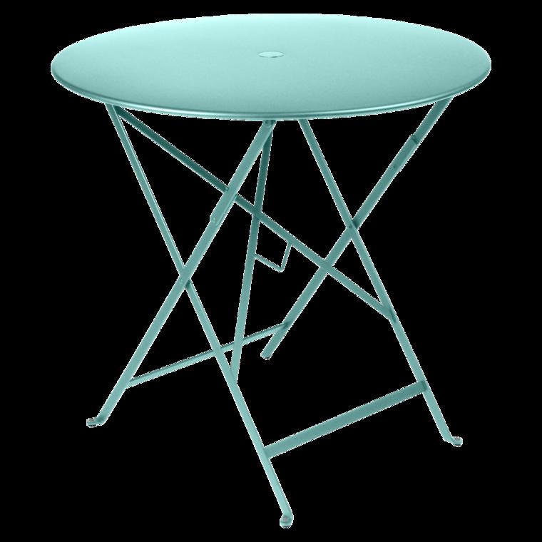 table 77 cm fermob collection bistro table pliante en acier pour 3
