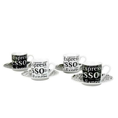 Konitz Assorted Espresso Writing Cup and Saucer