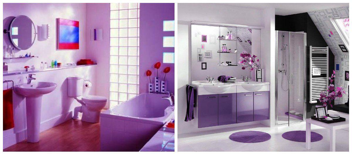 Purple Bad Ideen: Modische Ideen Für Lila Badezimmer Design #badezimmer # Design #ideen